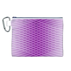 Abstract Lines Background Canvas Cosmetic Bag (l)