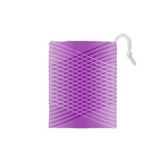 Abstract Lines Background Drawstring Pouches (xs)