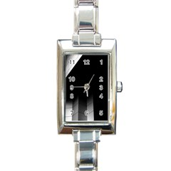 Wall White Black Abstract Rectangle Italian Charm Watch