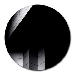 Wall White Black Abstract Round Mousepads