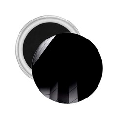 Wall White Black Abstract 2.25  Magnets