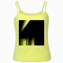 Wall White Black Abstract Yellow Spaghetti Tank