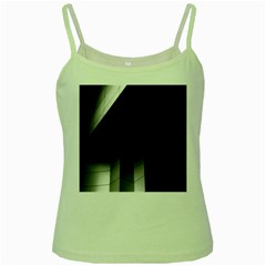 Wall White Black Abstract Green Spaghetti Tank
