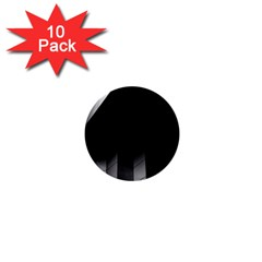 Wall White Black Abstract 1  Mini Buttons (10 Pack)