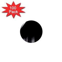 Wall White Black Abstract 1  Mini Buttons (100 Pack)