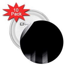 Wall White Black Abstract 2 25  Buttons (10 Pack)