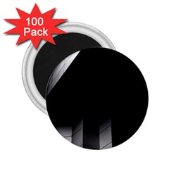 Wall White Black Abstract 2.25  Magnets (100 pack)