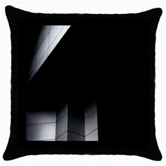 Wall White Black Abstract Throw Pillow Case (black)