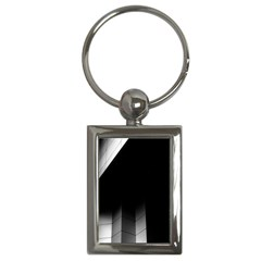 Wall White Black Abstract Key Chains (rectangle)