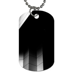 Wall White Black Abstract Dog Tag (One Side)