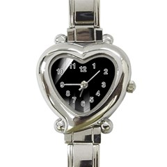 Wall White Black Abstract Heart Italian Charm Watch