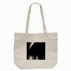 Wall White Black Abstract Tote Bag (cream)
