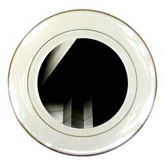 Wall White Black Abstract Porcelain Plates
