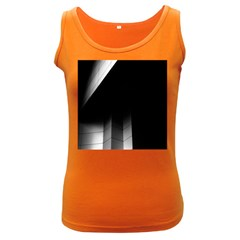 Wall White Black Abstract Women s Dark Tank Top
