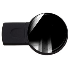 Wall White Black Abstract Usb Flash Drive Round (4 Gb)