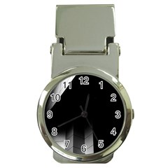 Wall White Black Abstract Money Clip Watches