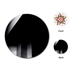 Wall White Black Abstract Playing Cards (round)
