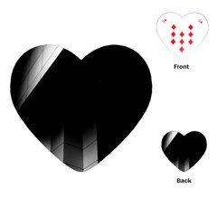 Wall White Black Abstract Playing Cards (heart)