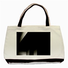 Wall White Black Abstract Basic Tote Bag