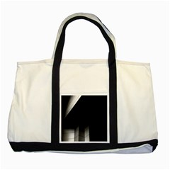 Wall White Black Abstract Two Tone Tote Bag