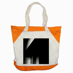 Wall White Black Abstract Accent Tote Bag
