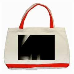 Wall White Black Abstract Classic Tote Bag (Red)