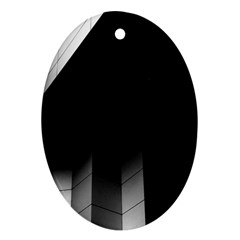 Wall White Black Abstract Oval Ornament (two Sides)