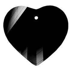 Wall White Black Abstract Heart Ornament (two Sides)