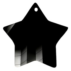 Wall White Black Abstract Star Ornament (Two Sides)