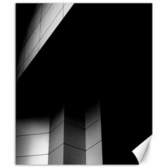 Wall White Black Abstract Canvas 20  x 24