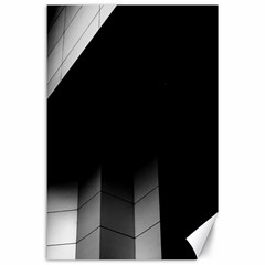 Wall White Black Abstract Canvas 24  x 36