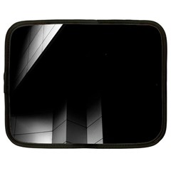 Wall White Black Abstract Netbook Case (large)