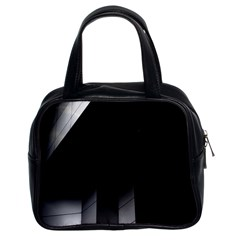 Wall White Black Abstract Classic Handbags (2 Sides)