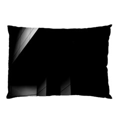 Wall White Black Abstract Pillow Case