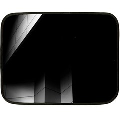 Wall White Black Abstract Double Sided Fleece Blanket (mini)