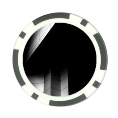 Wall White Black Abstract Poker Chip Card Guard (10 pack)