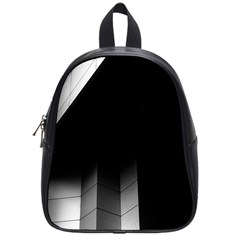 Wall White Black Abstract School Bags (small)