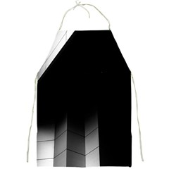 Wall White Black Abstract Full Print Aprons
