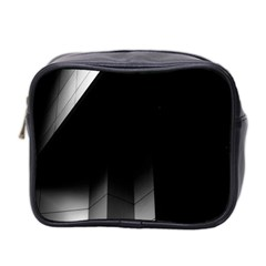 Wall White Black Abstract Mini Toiletries Bag 2-Side