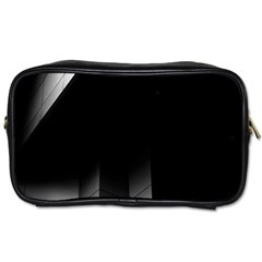 Wall White Black Abstract Toiletries Bags