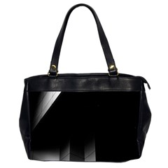 Wall White Black Abstract Office Handbags (2 Sides)