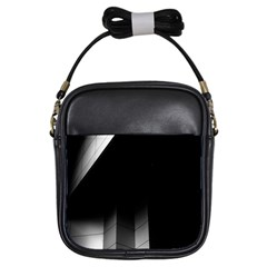 Wall White Black Abstract Girls Sling Bags