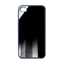 Wall White Black Abstract Apple iPhone 4 Case (Black)