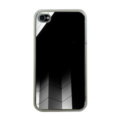 Wall White Black Abstract Apple iPhone 4 Case (Clear)