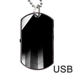 Wall White Black Abstract Dog Tag Usb Flash (one Side)