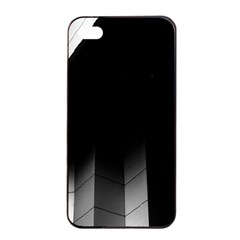 Wall White Black Abstract Apple Iphone 4/4s Seamless Case (black)