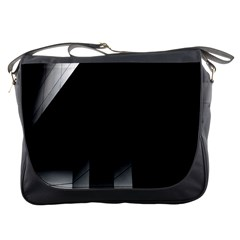 Wall White Black Abstract Messenger Bags