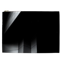 Wall White Black Abstract Cosmetic Bag (XXL)