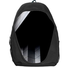 Wall White Black Abstract Backpack Bag