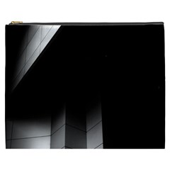 Wall White Black Abstract Cosmetic Bag (xxxl)